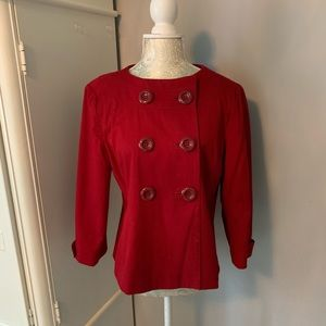Banana Republic Cropped red blazer